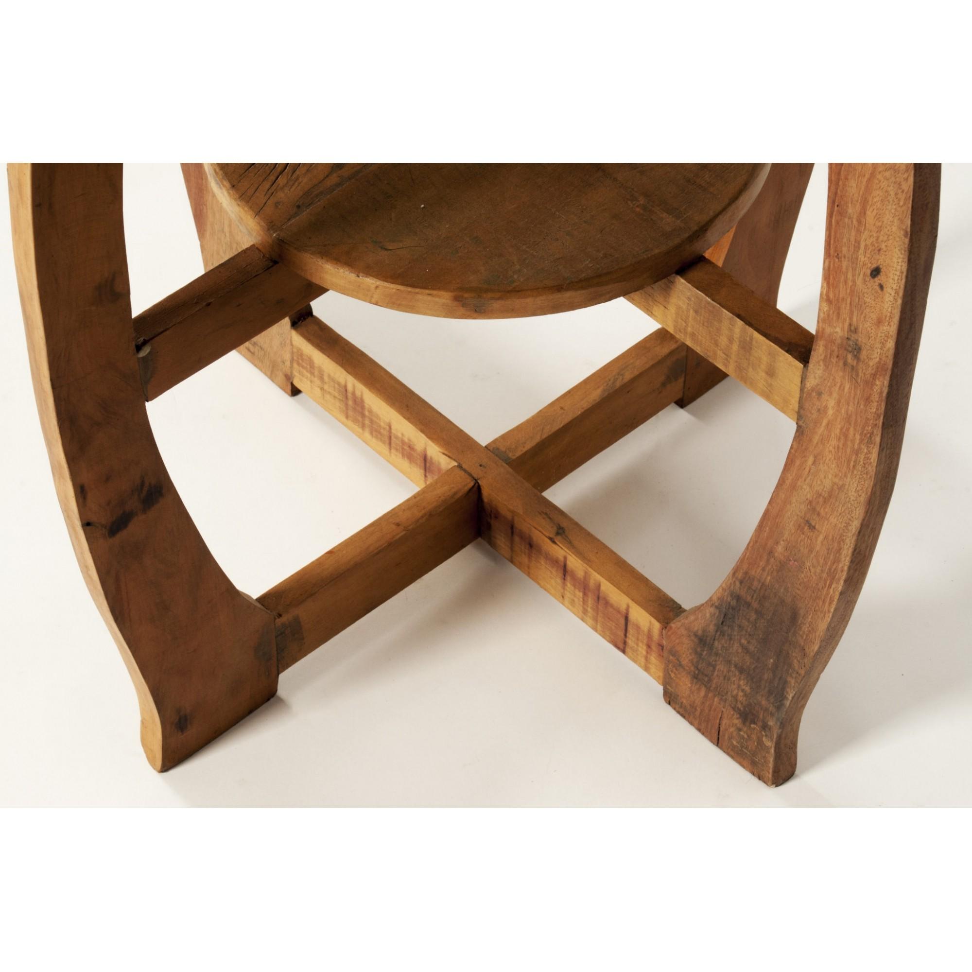 Mesa lateral redonda 2 tampos