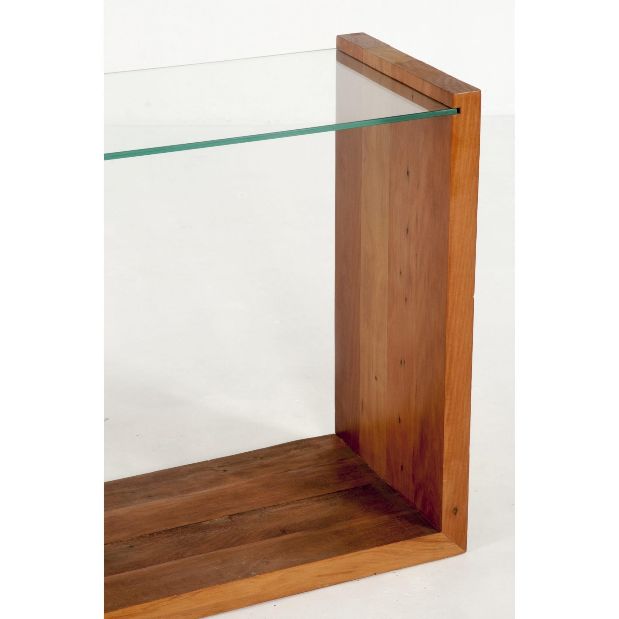 Ml viga u tampo de vidro 10 mm com rodízios