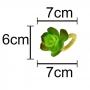 Conjunto 4 Anéis Para Guardanapo Flor Verde