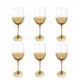 Conjunto 6 Taças Para Vinho Âmbar Degradê