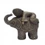 Elefante Com Buda Resina