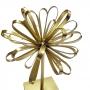 Escultura Metal Dourada