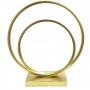 Escultura Metal Dourada Círculo