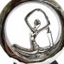 Estatueta Decorativa Yoga Prata