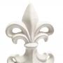 Estatueta Flor de Lis Branca