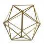 Forma Geométrica Dourado Metal