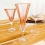 Jogo de Taças Vinho - Cristal - Bohemia - Wellington - 6 Peças - Rose -NF