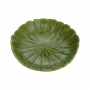 Prato Decorativo Cerâmica Leaf Verde