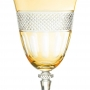 Taça Cristal Lapidado Topázio Para Água