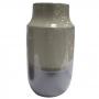 Vaso Decorativo Cerâmica Cinza