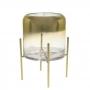 Vaso Degradê Dourado Com Base