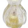 Vaso Frufru Ouro 24k Cristal Murano