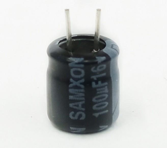1000 Peças Capacitor Elco Samxon 100UF X 16V 105ºC (A7xL6mm)