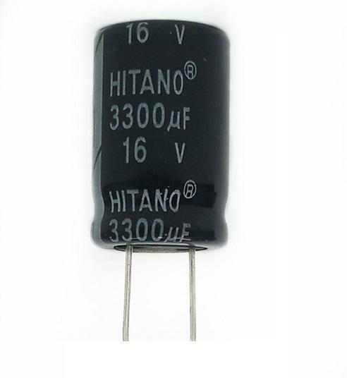 100 peças Capacitor Hitano 3300UF X 16V 105º C 16X26mm EHR332M16AT3