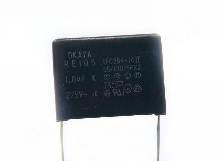 15 peças Capacitor Supressor Poliester 1.0uf x 275x IEC384-14II 55/100/56X2