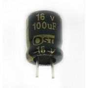 1000 Peças Capacitor Elco OST 100UF X 16V 105ºC (A7xL6mm)