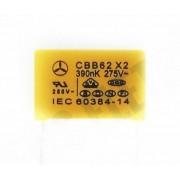 100 peças Capacitor supressor 390K x 275V CBB62X2275VAC-0,39UF-K