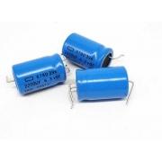 10 Peças Capacitor Axial Chemi-Con 2200UF X 6,3V 105ºC 3 TERMINAIS 25x16mm 678D396