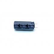 CAPACITOR ELETROLITICO 1800UF 16V RADIAL 10X25MM 105º C 16MCZ1800MTUPCR10X25 RUBYCON