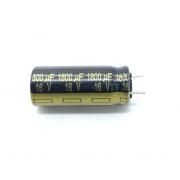 CAPACITOR ELETROLITICO 1800UF 16V RADIAL 10X25MM 105º C EEU-FJ1C182YY PANASONIC (EEUFJ1C182YY)