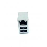 CONECTOR RJ INTEGRADO RJ45 USB R/A T/H 1,27MM JFM24U13-21U5-4F FOXCONN (JFM24U1321U54F)