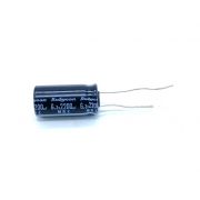 KIT COM 10 PEÇAS - CAPACITOR ELETROLITICO 2200UF 6,3V RADIAL 105ºC 10X21MM RUBYCON