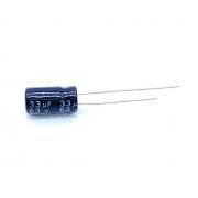 KIT COM 20 PEÇAS - CAPACITOR ELETROLITICO 33UF 63V RADIAL 105ºC 6X12MM JWCO