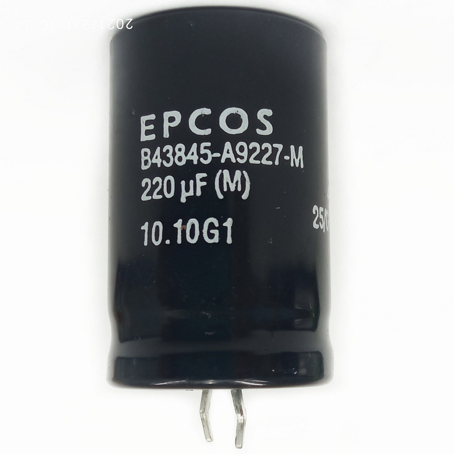 5 peças Capacitor SNAP-IN Epcos 220UF X 400V B43845-A9227-M