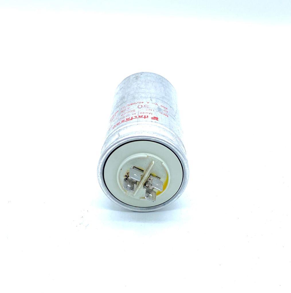 CAPACITOR 50UF 280VAC 50X107MM M12 ITALFARAD (USADO)