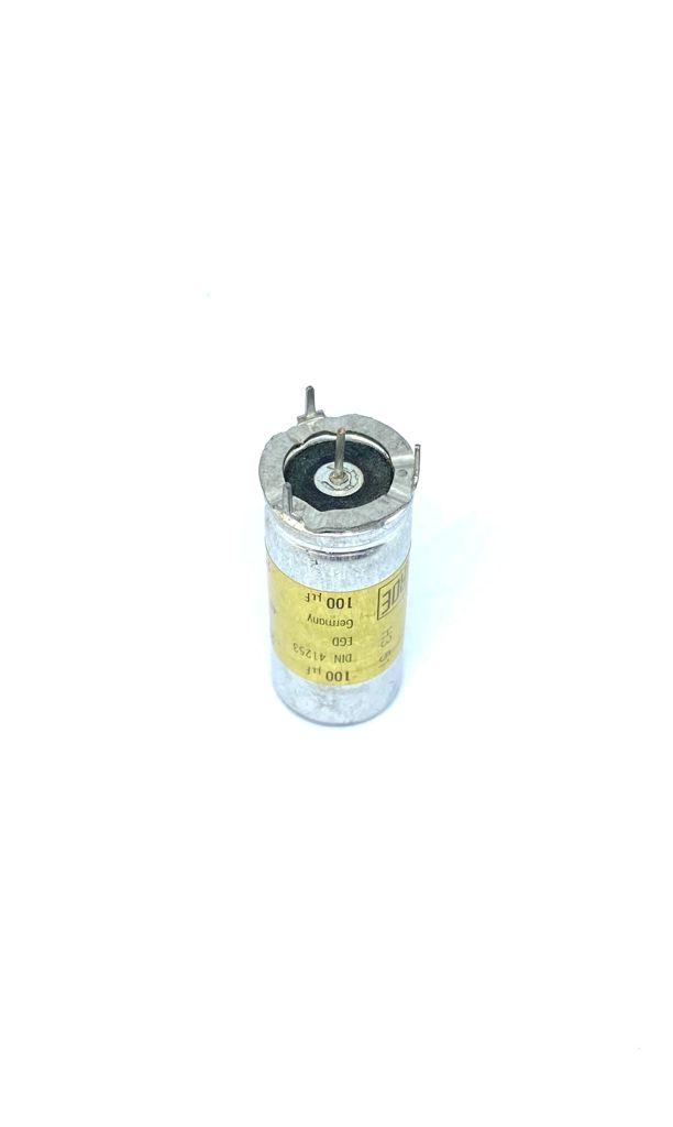 CAPACITOR ELETROLITICO 100UF 250V RADIAL 4PINOS 17X41MM EGD DIN41253 RDE