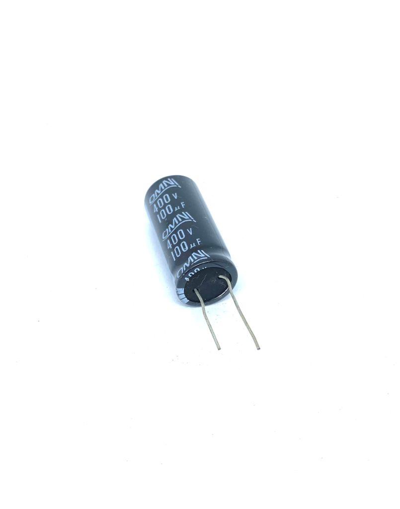 CAPACITOR ELETROLITICO 100UF 400V RADIAL 105ºC 19X41MM OMNI