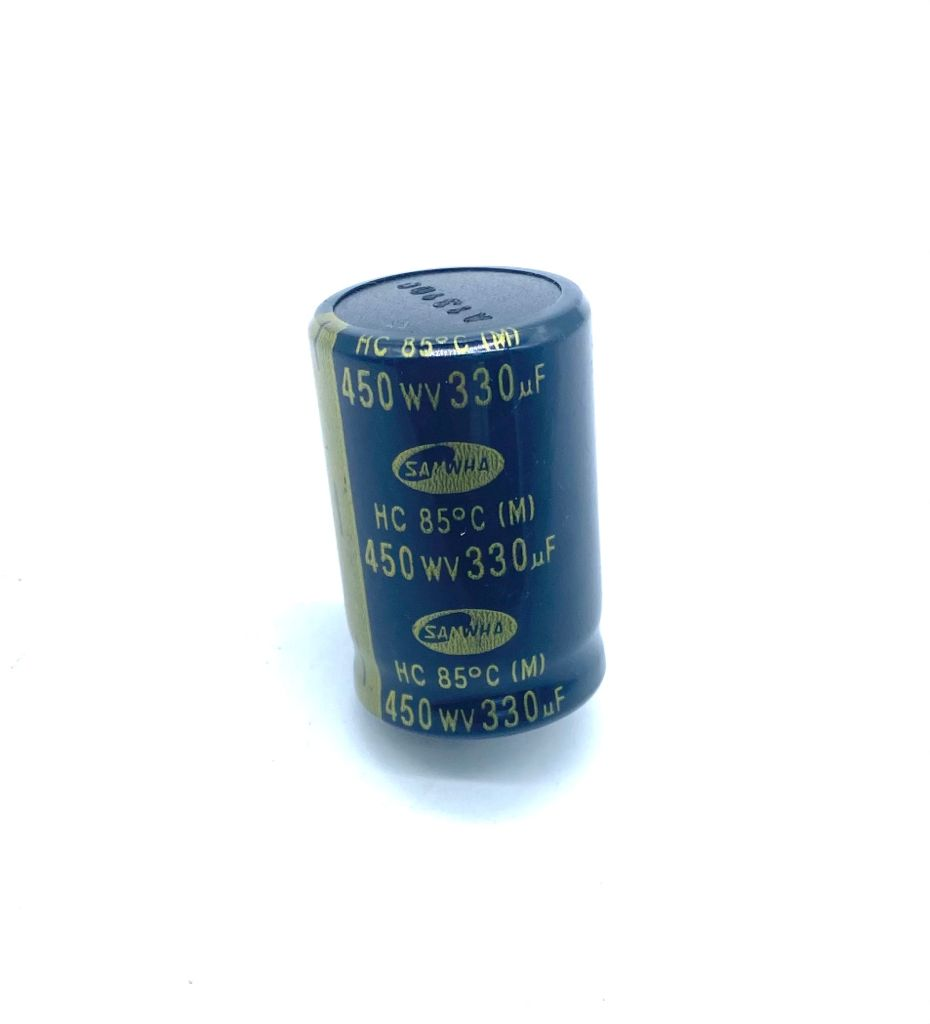 CAPACITOR ELETROLITICO 330UF 450V RADIAL SNAP-IN 30X46MM SAMWHA