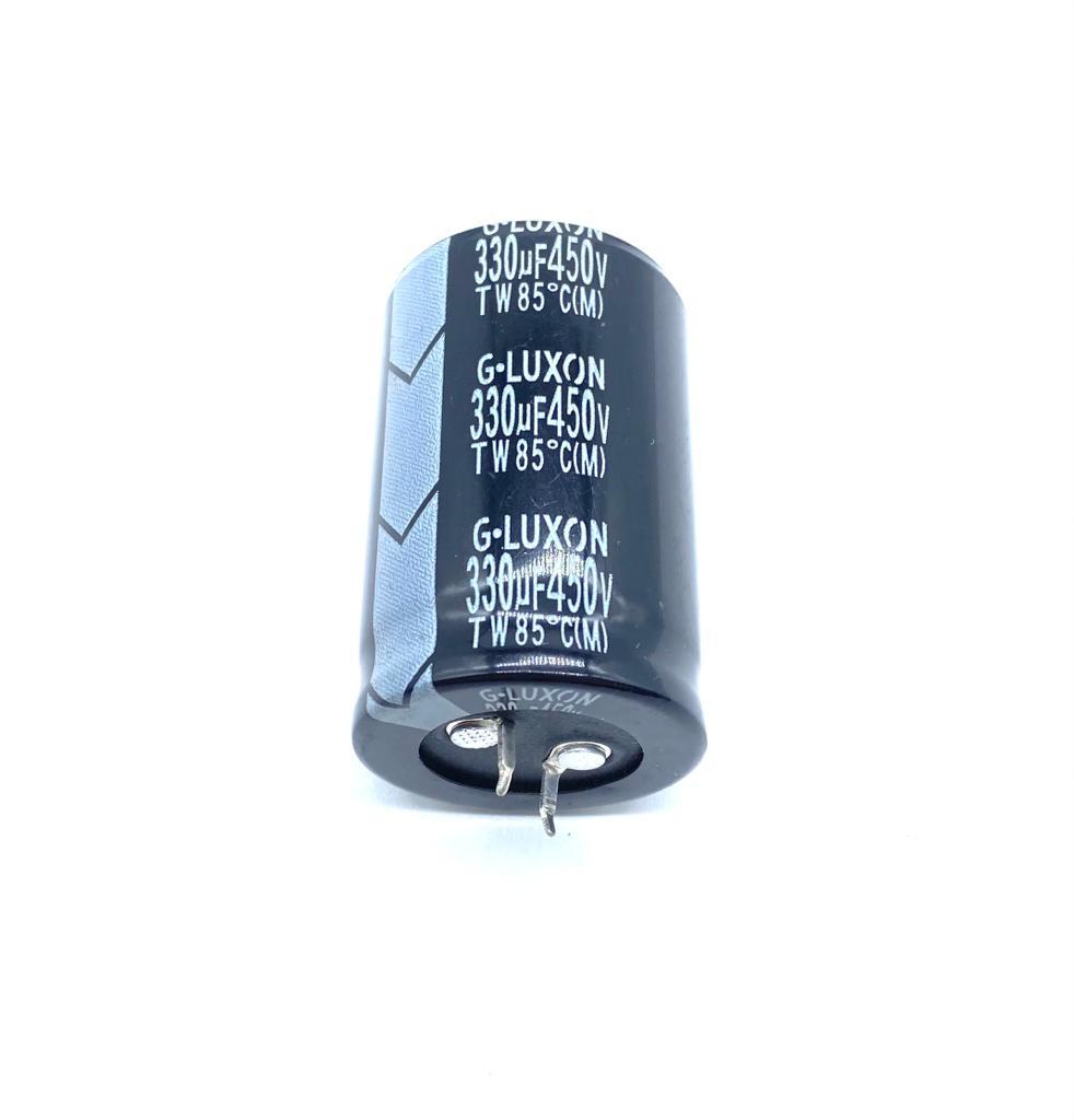 CAPACITOR ELETROLITICO 330UF 450V RADIAL SNAP-IN 30X46MM G-LUXON