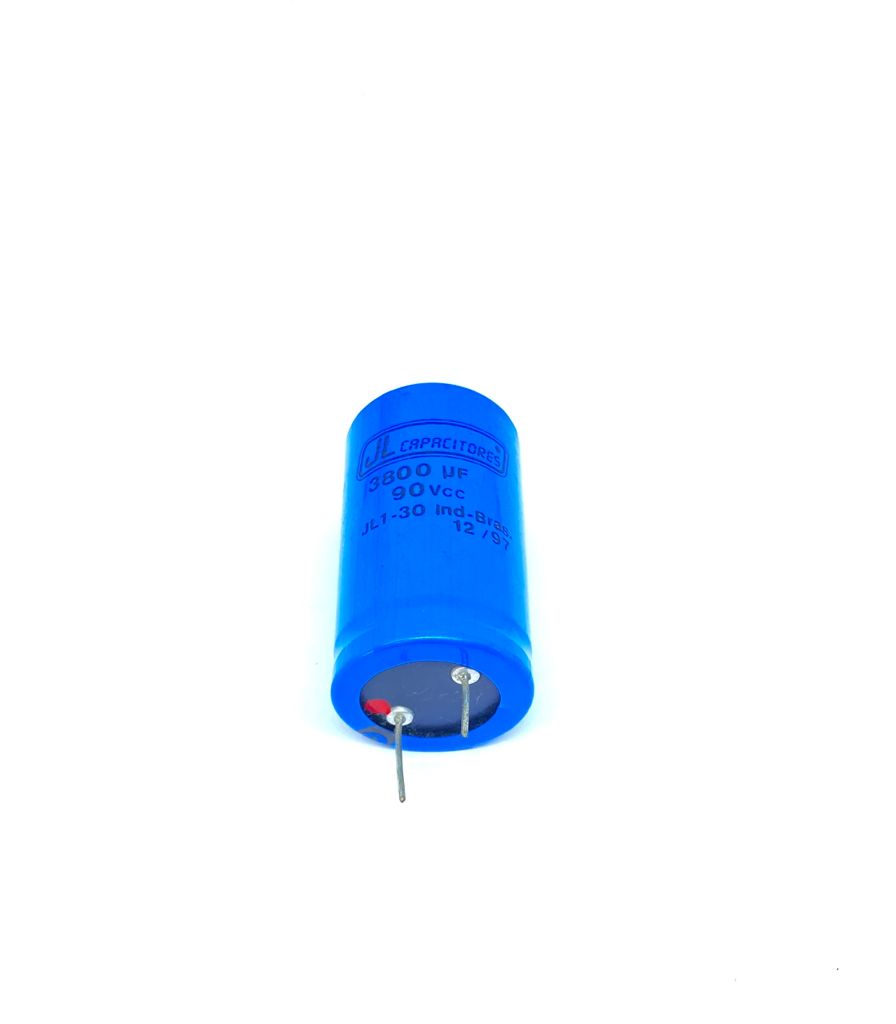 CAPACITOR ELETROLITICO 3800UF 90VDC RADIAL 30X53MM JL1-30 JL CAPACITORES