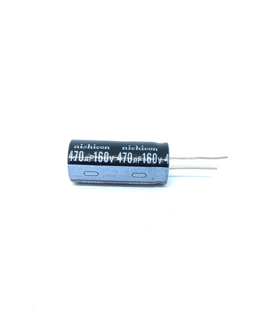 CAPACITOR ELETROLITICO 470UF 160V RADIAL 105ºC 18X42MM NICHICON