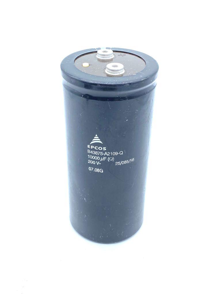 CAPACITOR ELETROLITICO GIGA 10000UF 200V 77X168MM B43875-A2109-Q EPCOS (USADO)