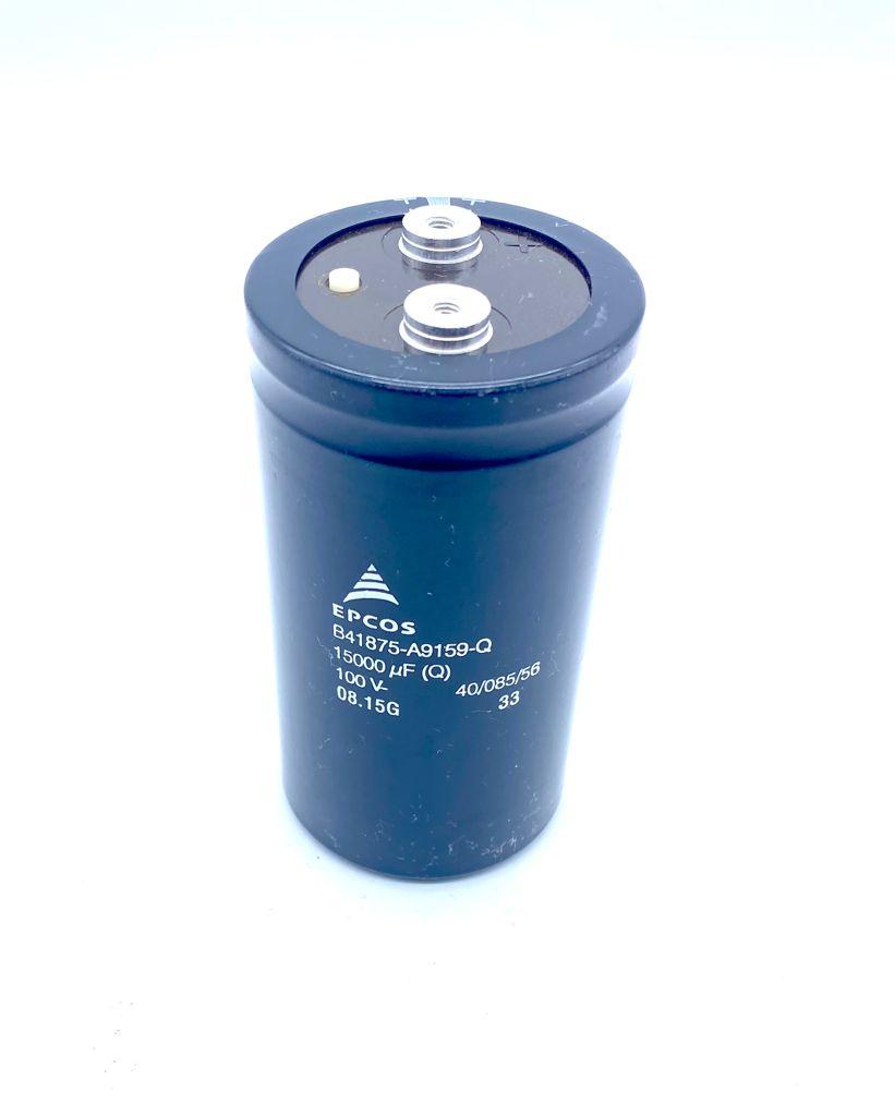 CAPACITOR ELETROLITICO GIGA 15000UF 100V 64X120MM B41875-A9159-Q1 EPCOS (B41875A9159Q1)