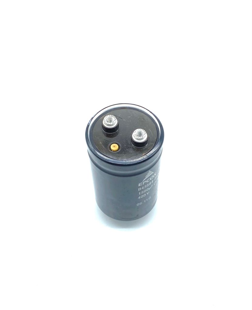 CAPACITOR ELETROLITICO GIGA 1500UF 400V 51X82MM M12 B43584-S9158-M3 EPCOS (USADO)