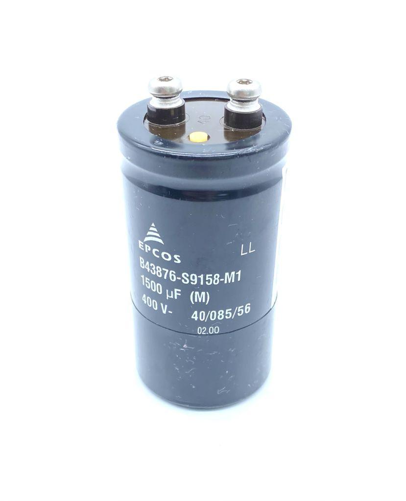 CAPACITOR ELETROLITICO GIGA 1500UF 400V 51X97MM B43876-S9158-M1 EPCOS (USADO)