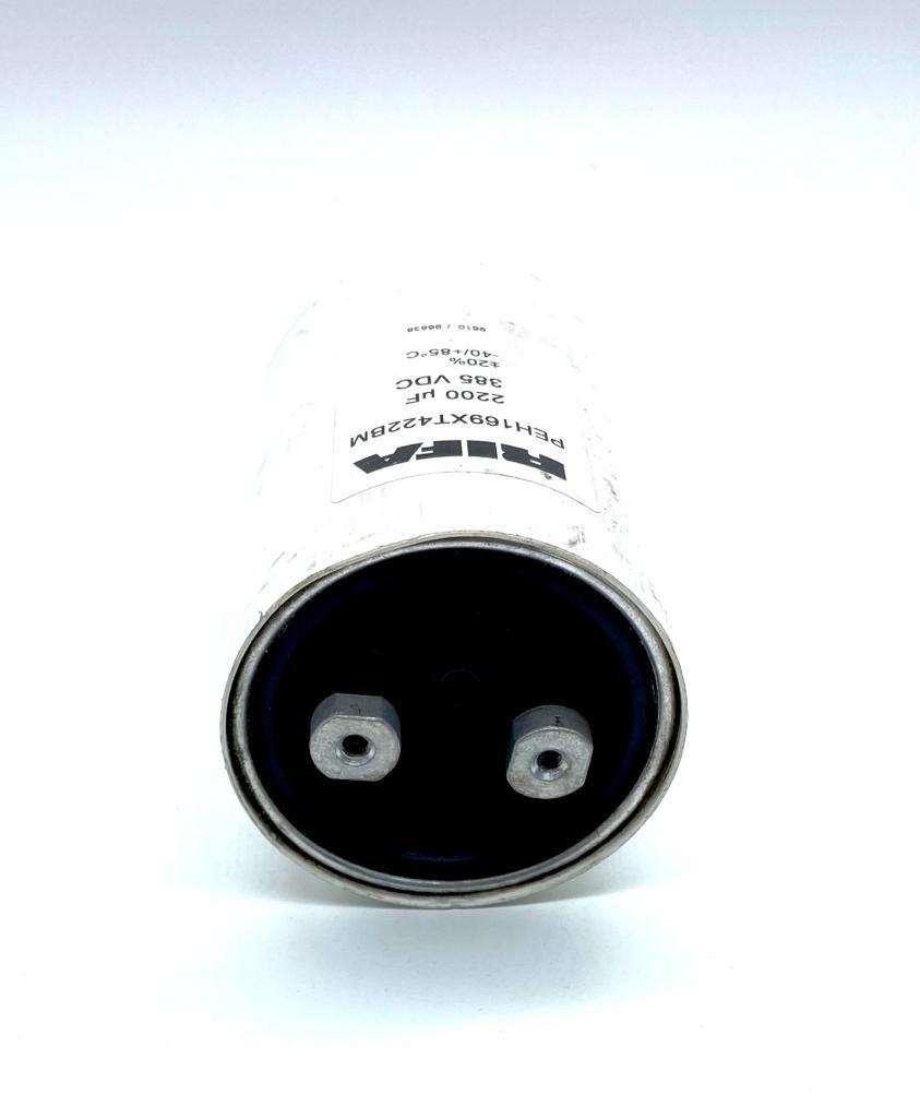 CAPACITOR ELETROLITICO GIGA 2200UF 385V 77X108MM PEH169XT422BM RIFA (PEH169XT422BM)