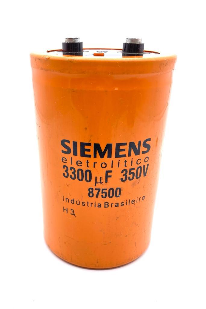 CAPACITOR ELETROLITICO GIGA 3300UF 350V 75X126MM 87500 SIEMENS