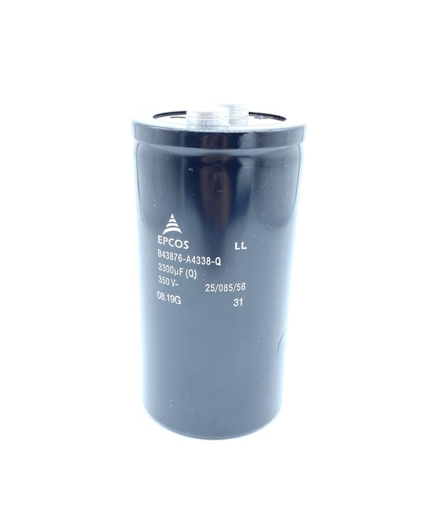 CAPACITOR ELETROLITICO GIGA 3300UF 350V B43876-A4338-Q 76X149MM EPCOS (B43876A4338Q)