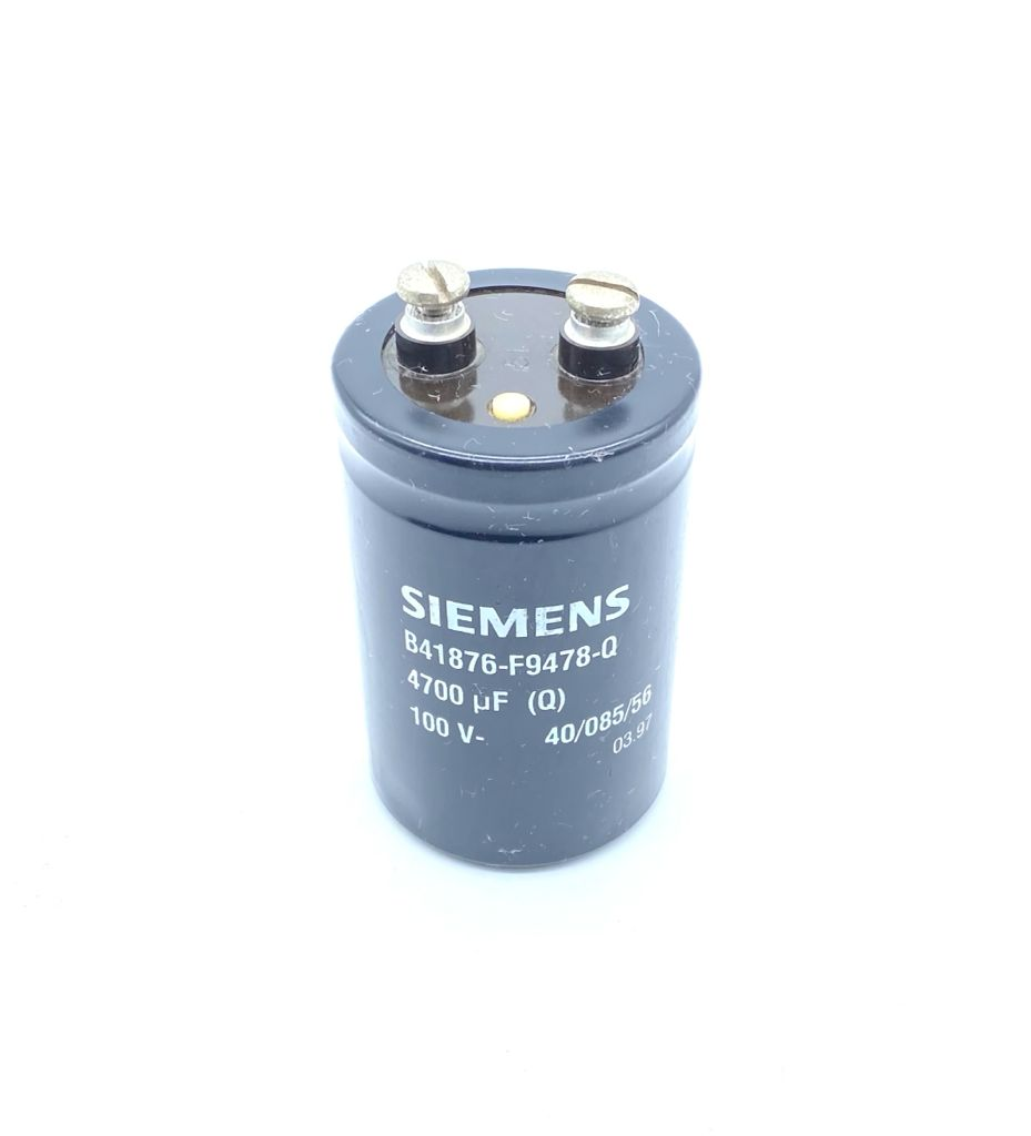 CAPACITOR ELETROLITICO GIGA 4700UF 100V 51X81MM B41876-F9478-Q EPCOS (USADO)