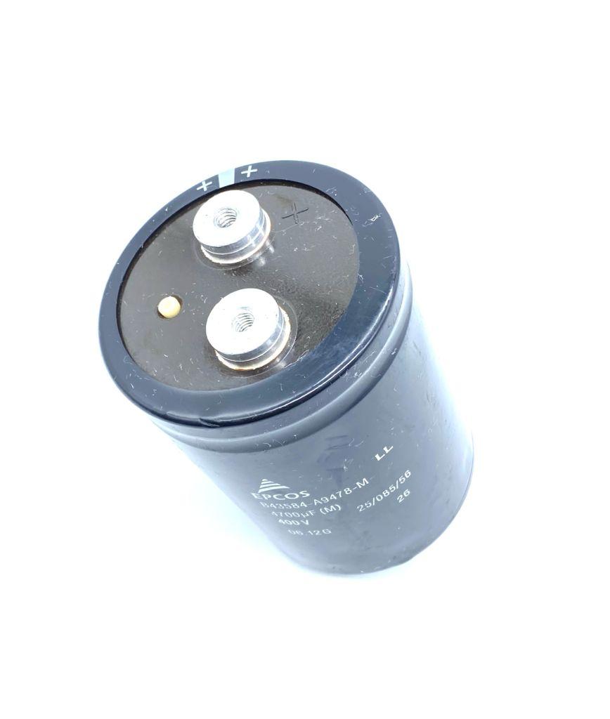 CAPACITOR ELETROLITICO GIGA 4700UF 400V 77X107MM M12 B43584-A9478-M EPCOS (USADO)