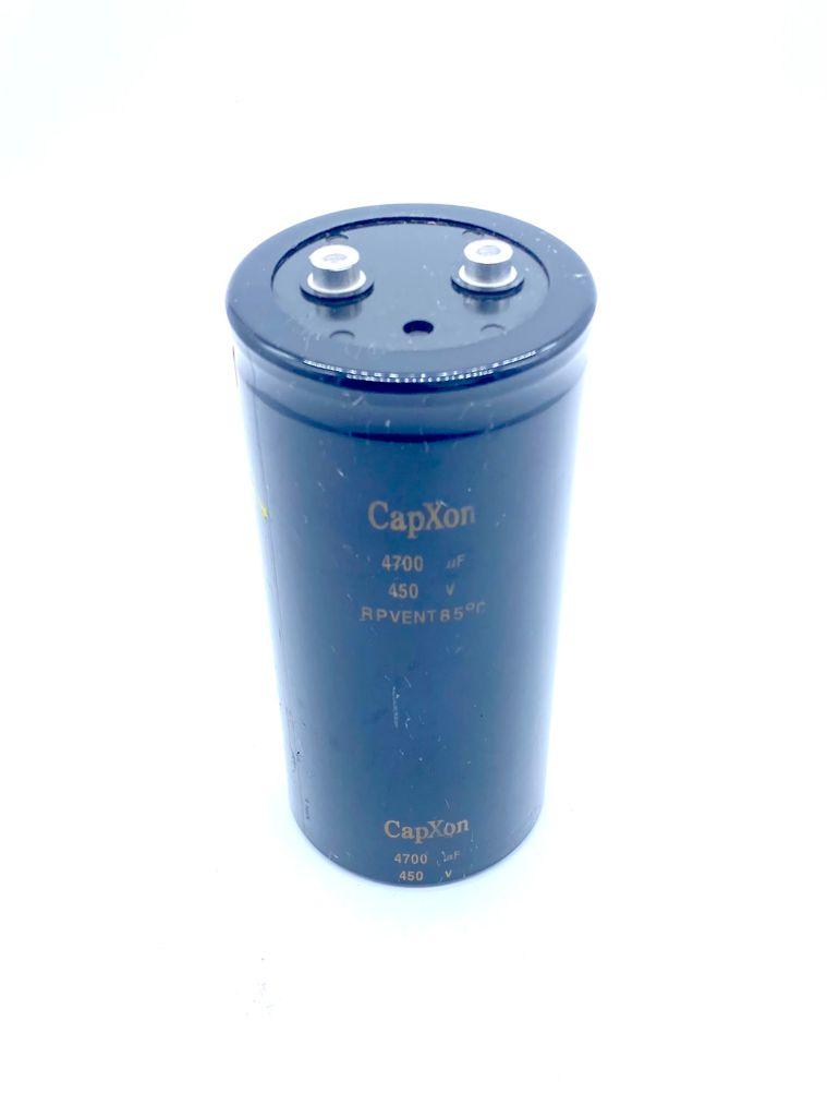 CAPACITOR ELETROLITICO GIGA 4700UF 450V 77X161MM RPVENT CAPXON (USADO)