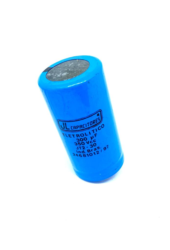 CAPACITOR ELETROLITICO SNAP-IN 300UF 350VCC RADIAL 35X69MM JT2-30 JL CAPACITORES