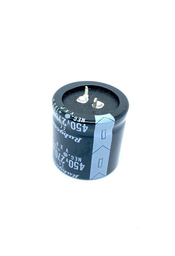 CAPACITOR ELETROLITICOSNAP-IN 270UF 450V RADIAL 36X36MM 105ºC RUBYCON