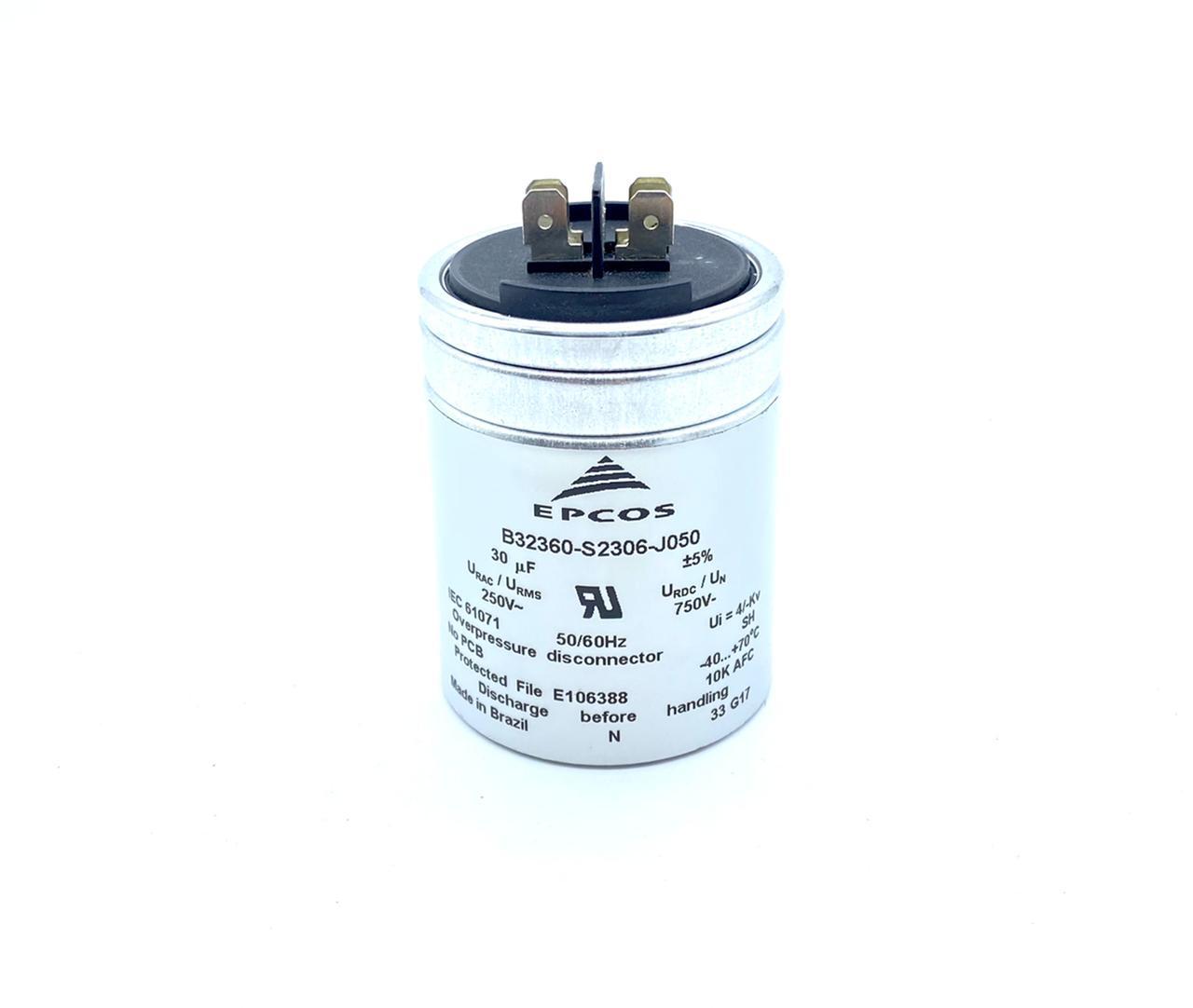 CAPACITOR PPM 30UF 250VCA 54X69MM FASTON B32360-S2306-J050 EPCOS (B32360S2306J050)