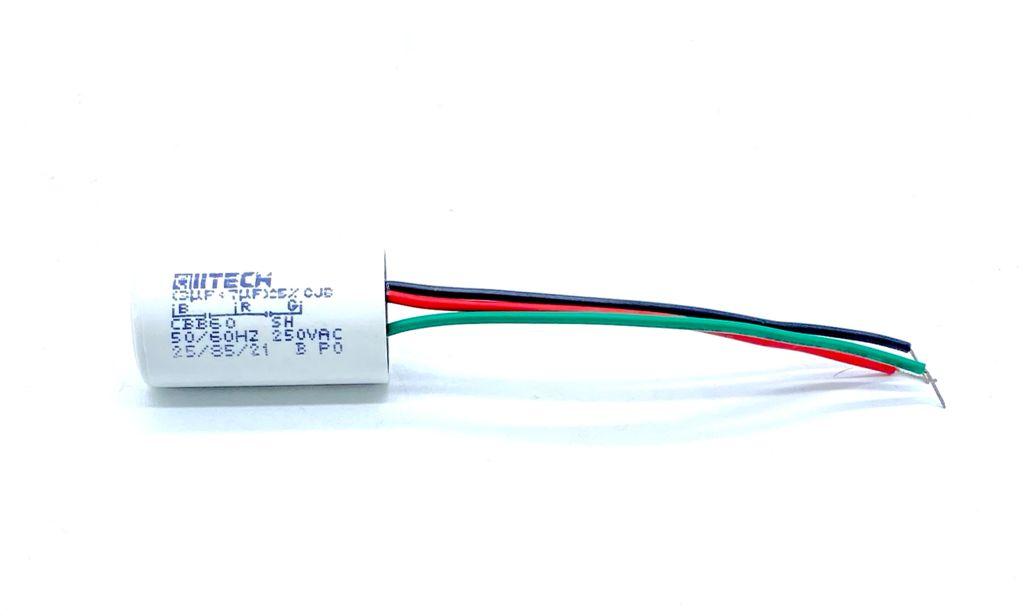 CAPACITOR PPM DUPLO 3UF+7UF 250VAC 20X40MM CBB60 ALL-TECH