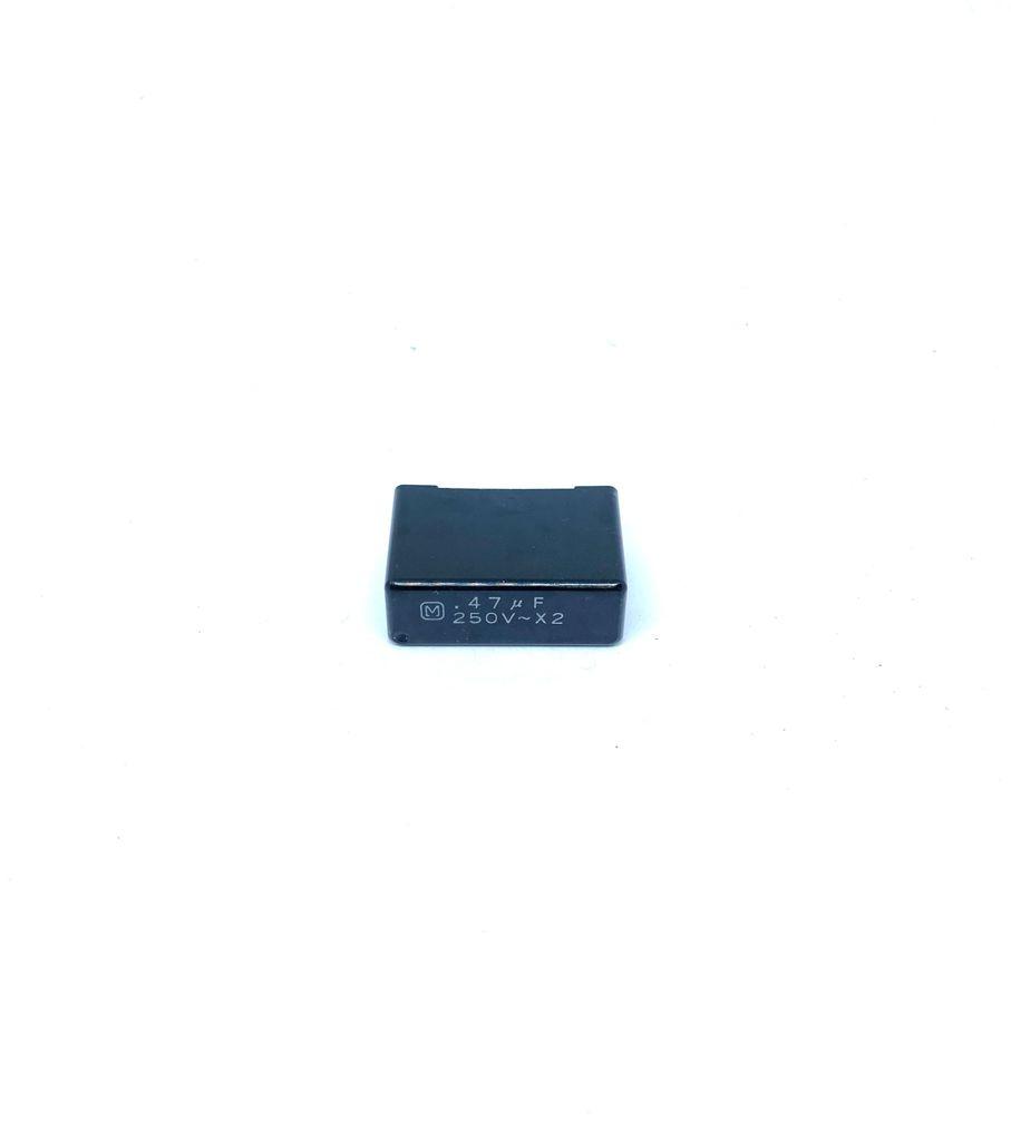 CAPACITOR SUPRESSOR X2 470K 250VAC 31X11X20MM PASSO 27,5MM ECQ-UV PANASONIC (0,47UF 250V X2)
